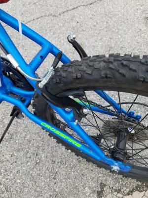 """Boys Mountain Bike 20/"""" Crossfire 6-Speed Cycling Pedals Steel Frame Blue//Green"""