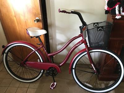 """HUFFY 26"""" WOMEN/'S CRANBROOK CRUISER BIKE Dark Red NIB Bicycle Beach Cruiser"""
