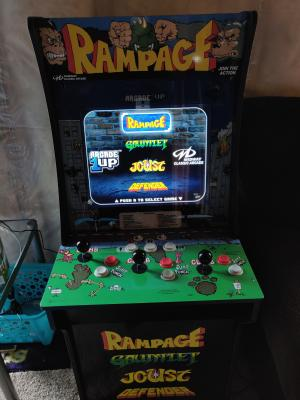 Rampage Arcade Machine, Arcade1UP, 4ft - Walmart com