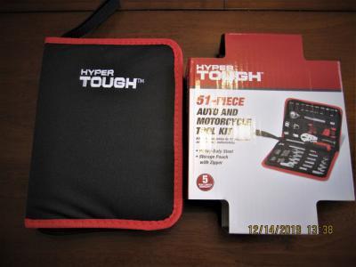 Hyper Tough 51-piece Auto And Motorcycle Tool Kit 5768 - Walmart.com -  Walmart.com