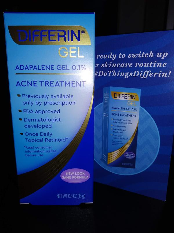 Differin 0 1 Adapalene Acne Treatment Gel 0 5 Oz 15g Walmart Com Walmart Com