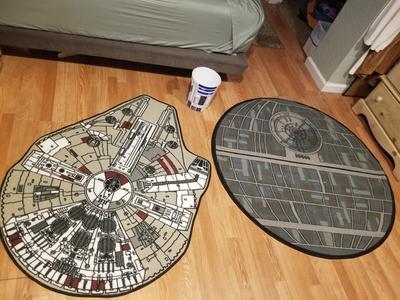 Star Wars Millenium Falcon Printed Rug