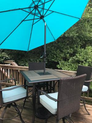 Best Choice S 10ft Solar Led, Sorbus 10 Ft Outdoor Patio Umbrella With Solar Charging Led Lights