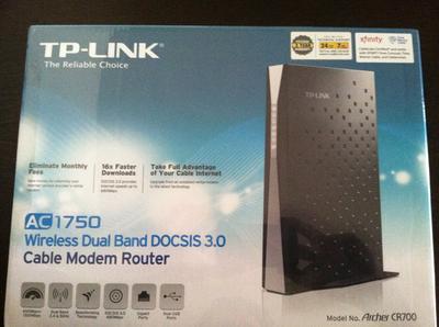 TP-Link AC1750 DOCSIS 3 0 (16x4) Wi-Fi Cable Modem Router