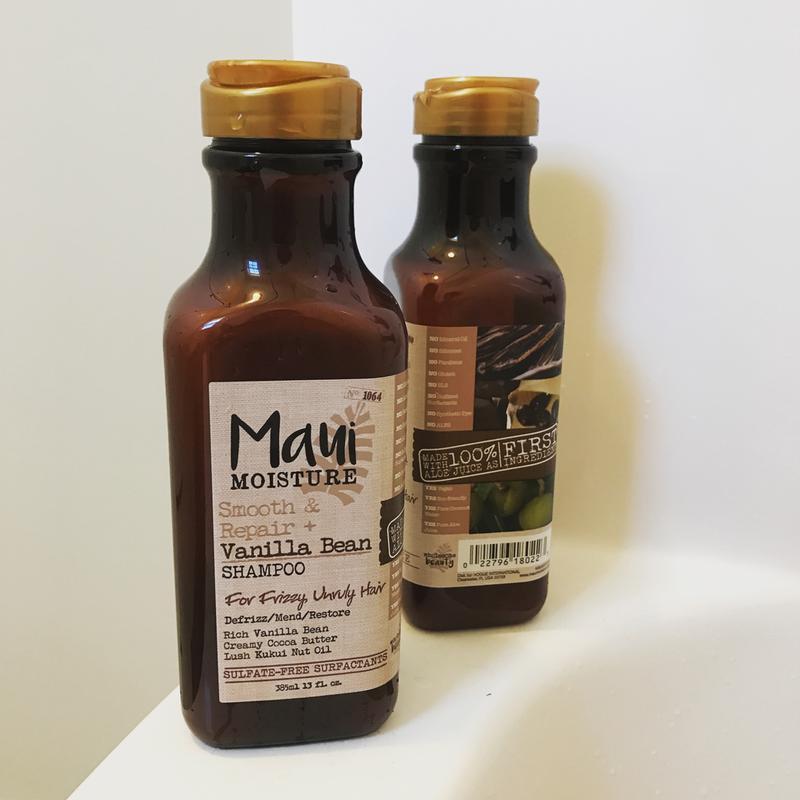 Maui Moisture Smooth & Repair + Vanilla Bean Shampoo, 13 Ounce