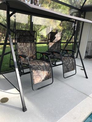 Merveilleux Mainstays Big And Tall Zero Gravity Outdoor Reclining Porch Swing
