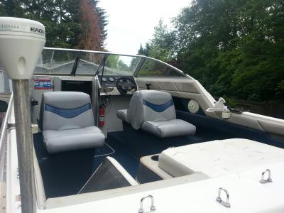 Wise 8WD1173-0031 Bayliner Capri-Classic Runabout Series Back-to-Back Lounge