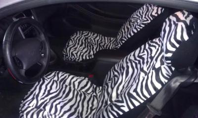 Plasticolor Wild SkinzTM Zebra Seat Cover