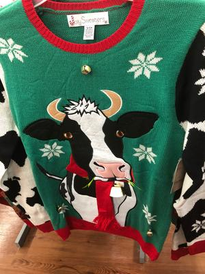 Holiday Holiday Mens Jingle Scarf Cowbells Ugly Christmas Sweater