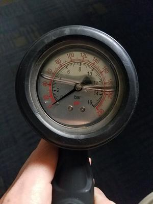 Freeman Analog Tire Air Compressor Inflator with Oil Filled Pressure Gauge Chuck