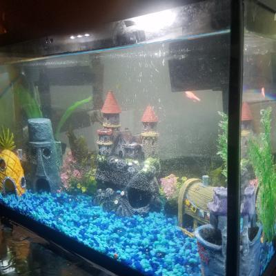 Spongebob Squarepants Chum Bucket Aquarium Ornament Walmart Com Walmart Com