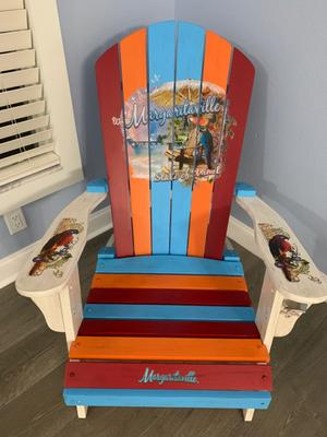 Margaritaville Wood Adirondack Chair Multi Beachy Outdoor Chairs Walmart Com Walmart Com