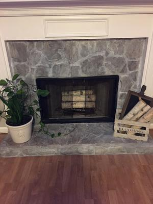 White Birch Log Set For Fireplace Walmart Com