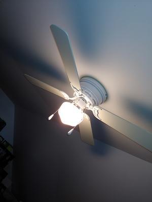 42 Mainstays Hugger Indoor Ceiling Fan With Light White Walmart Com Walmart Com