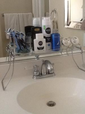 Mainstays Over The Sink Shelf Chrome Walmartcom