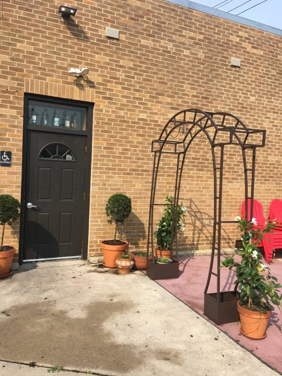 73.8W x 16D x 90.9H in. Coral Coast Coral Coast Jeweled Metal Arch Arbor with Planters Iron