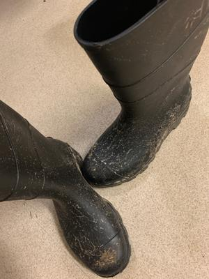 tighten O than planted Deco for dolls house 1 Pair Black Rubber Boots