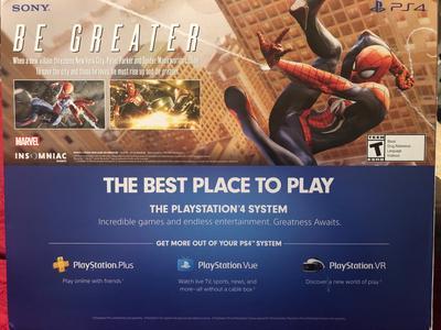 Sony PlayStation 4 Slim 1TB Spiderman Bundle, Black, CUH-2215B