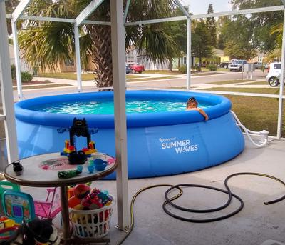 """Summer Waves 10/' x 30/"""" Quick Set Inflatable Above Ground Swimming Pool with Pump"""