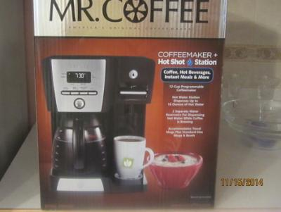 Mr Coffee 12 Cup Programmable Maker And Hot Water Station Black Bvmc Dmx85wm