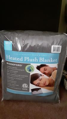 Arrowhead Blue Biddeford MicroPlush Twin Electric Blanket with Controller