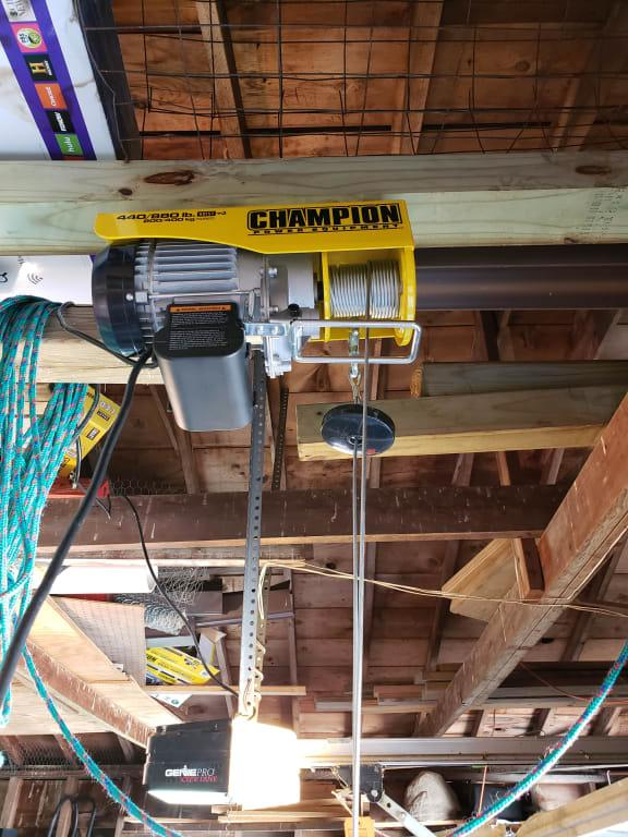 Champion 440/880-lb. Electric Hoist with Remote Control on