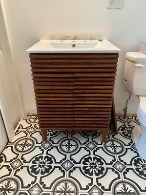 Render Bathroom Vanity In Walnut White Walmart Com Walmart Com