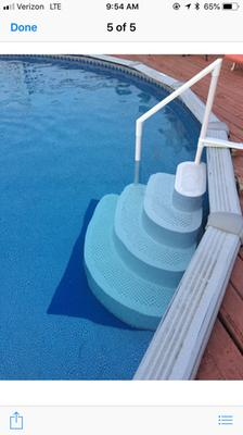 Blue Wave Wedding Cake Above Ground Pool Step W Liner Pad White