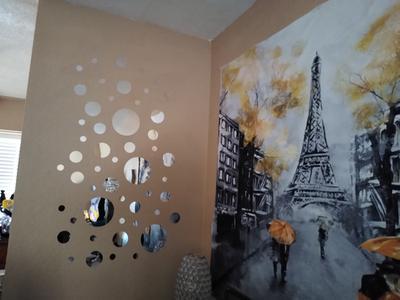 26x Acrylic Polka Dot Wall Mirror Stickers Room Bedroom Kitchen Decoration E0M5
