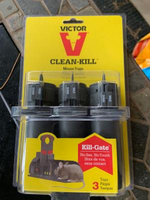 3 Pack Victor M160S Clean Kill Mouse Trap No See Tunnel - No Touch