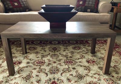 Mainstays Logan Coffee Rectangular Table Home Furniture Canyon Walnut