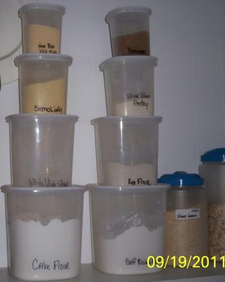 Mainstays Food Storage Canister White Set Of 4 Walmartcom