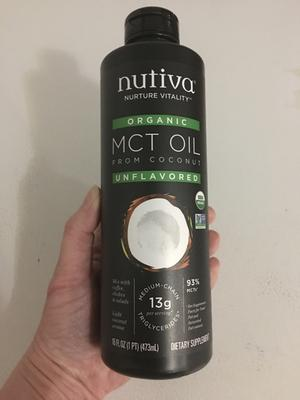 Nutiva Organic MCT Oil with Caprylic and Capric Acids from