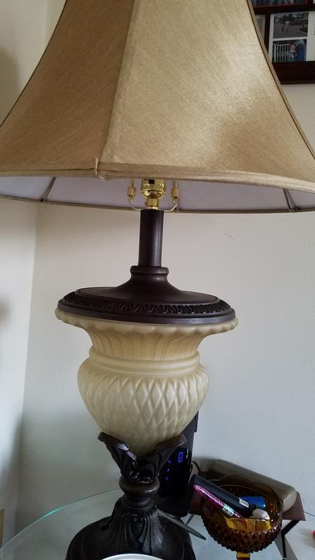 Signature Design By Ashley Danielle Bronze Finish 34 Poly Table Lamp Set Of 2 Walmart Com Walmart Com