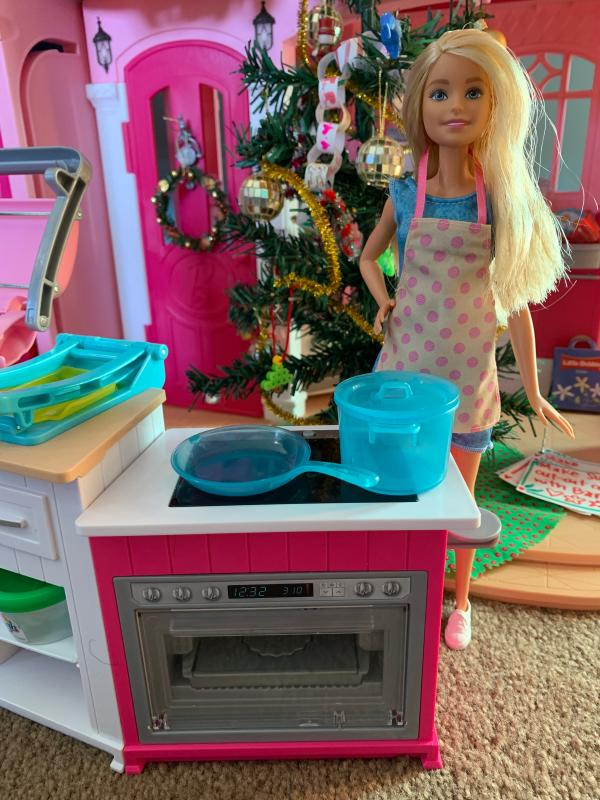 Barbie Ultimate Kitchen Cooking Baking Playset With Chef Doll Walmart Com Walmart Com