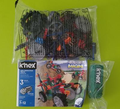K`NEX 4WD Demolition Truck Building Set Construction Build And Play Toy