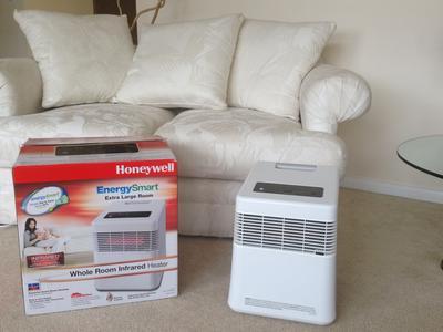 Honeywell EnergySmart Infrared Heater, White, HZ-970