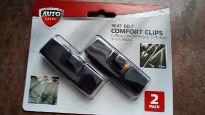 Eliminates Neck Strain Pack of 2 Seatbelt Adjusting Clips Allows You to Drive