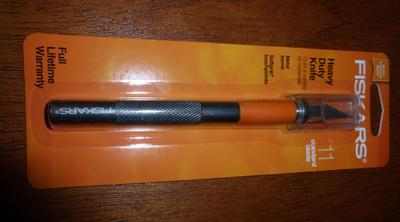 Fiskars 167110-1001 Heavy Duty Die Cast Craft Knife 8 Inch,Orange Pack of 1