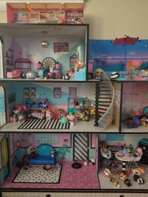 L O L Surprise House With 85 Surprises And Made Of Real Wood Walmart Com Walmart Com