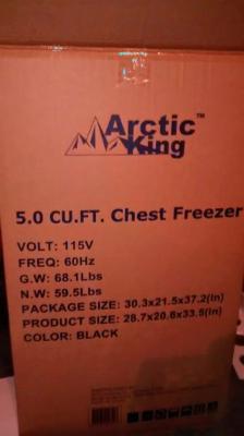 Arctic King 5 cu ft Chest Freezer - Walmart com