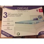 Dream Serenity Gel Memory Foam 3 Quot Mattress Topper 1 Each