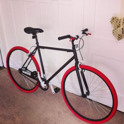 fc843acbb43 Kent 700c Thruster Fixie Men's Bike, Black/Red, For Height Sizes 5'4
