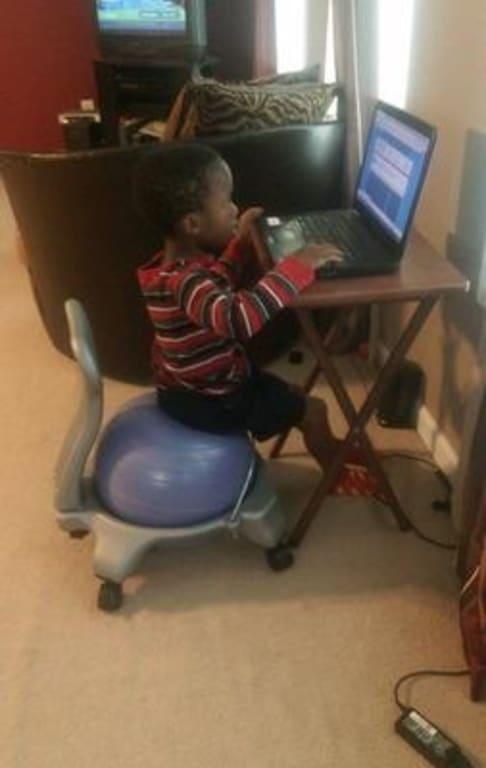 Brilliant Gaiam Kids Balance Ball Chair Blue Green Caraccident5 Cool Chair Designs And Ideas Caraccident5Info