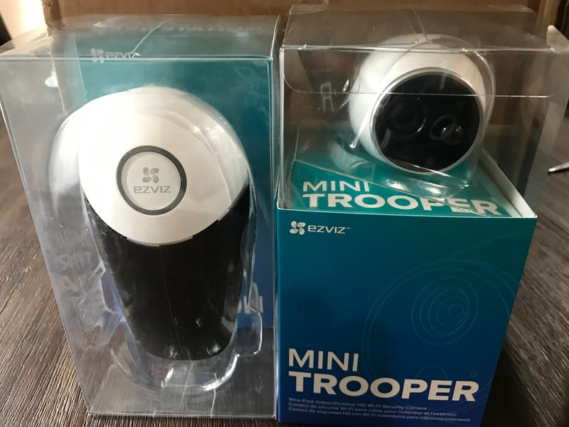 EZVIZ Add-on Camera for Mini Trooper Wire-Free Indoor / Outdoor Security  System (Base Station Required)