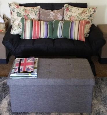 Awe Inspiring Harperbright Designs Adjustable Backrest Loveseat Black Pabps2019 Chair Design Images Pabps2019Com