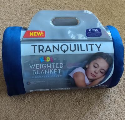 6Lbs With Washable Cover Tranquility Kid/'s Weighted Blanket Blue