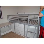 Charleston Storage Loft Bed With Desk Espresso Walmart Com