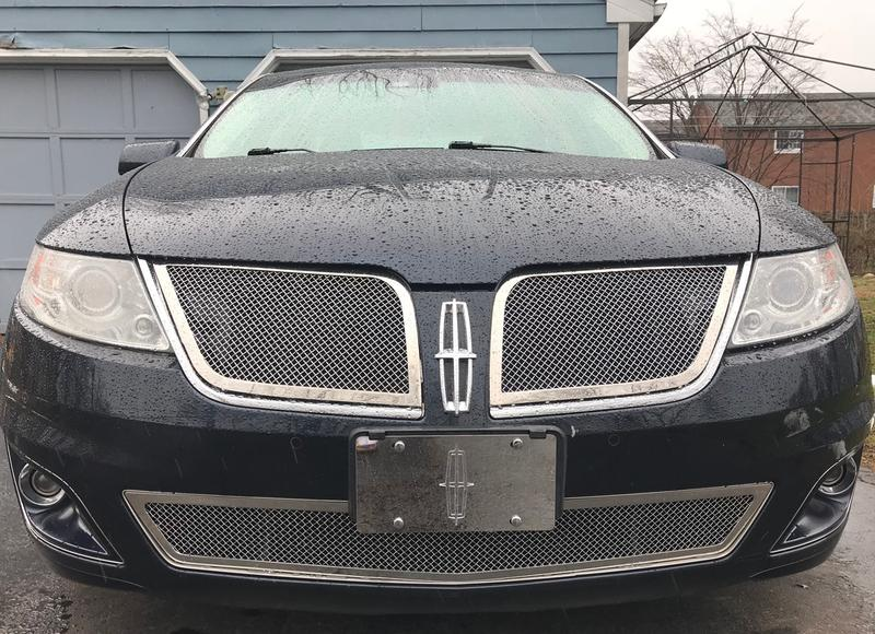 FOR 09-10 Lincoln MKS Bumper Stainless Steel Mesh Grille Grill Insert