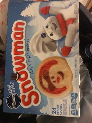 Pillsbury Ready To Bake Snowman Shape Sugar Cookies Walmart Com